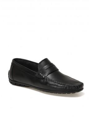 حذاء رجالي مزينة بدرزة - اسود