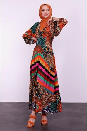 فستان نسائي متعدد الالوان