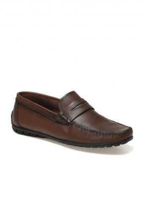 حذاء رجالي مزينة بدرزة - بني
