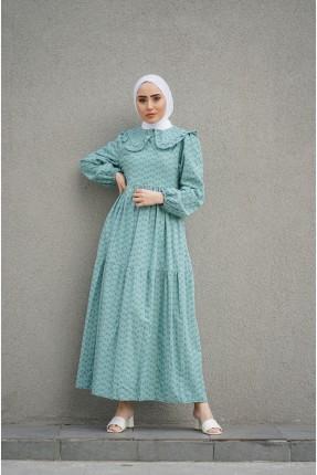 فستان نسائي باكمام طويلة - اخضر