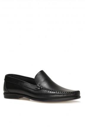حذاء رجالي مزين بدرزة  - اسود
