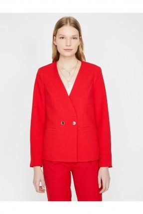 جاكيت رسمي نسائي سادة اللون - احمر