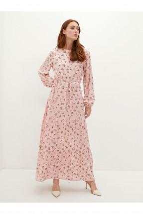 فستان نسائي مزهر - زهري