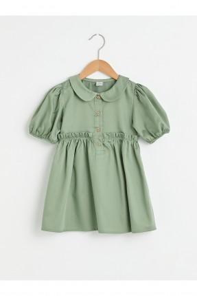 فستان بيبي بناتي مزين بزم على الخصر والاكمام