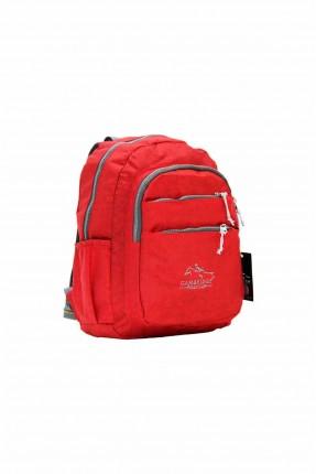 حقيبة ظهر نسائية بسحابات - احمر