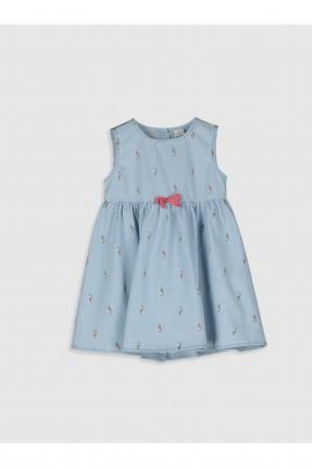 فستان جينز بيبي بناتي حفر