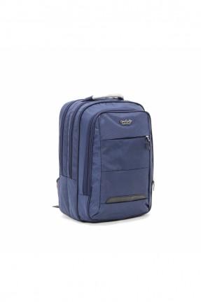 حقيبة ظهر نسائية بسحابات - كحلي
