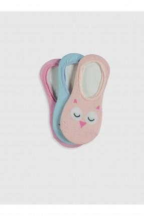 جوارب اطفال بناتي مسطحة عدد 3