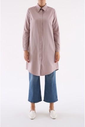 قميص نسائي طويل - وردي