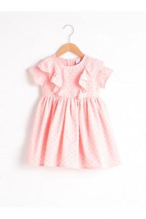 فستان بيبي بناتي نصف كم - زهري