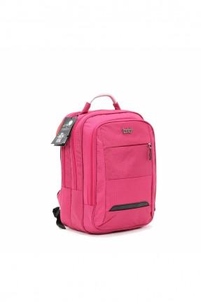 حقيبة ظهر نسائية سادة اللون - زهري