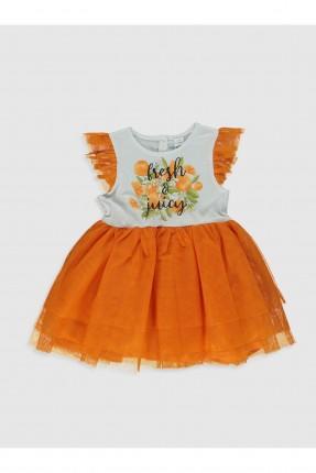 فستان بيبي بناتي بتفاصيل تول