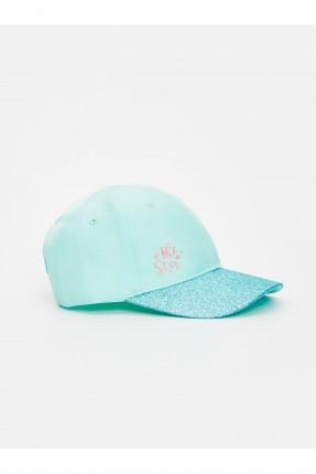 قبعة اطفال بناتي سادة اللون
