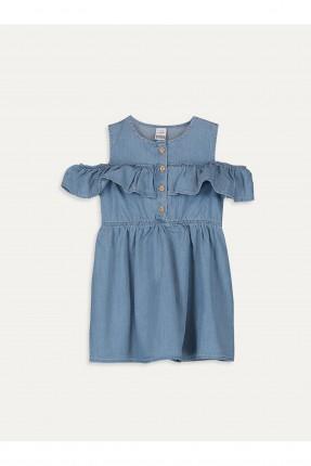 فستان جينز بيبي بناتي مزين بازرار
