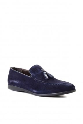 حذاء رجالي مزين بشراشيب - كحلي