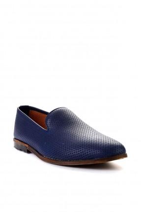 حذاء رجالي بنقشة - كحلي