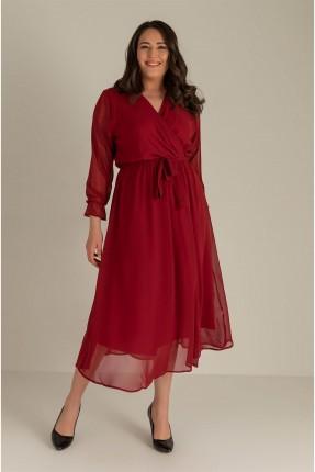 فستان نسائي سادة - خمري
