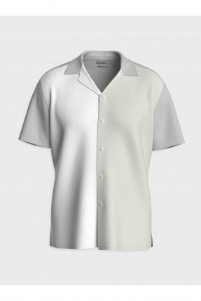 قميص رجالي سليم فيت نصف كم