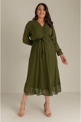 فستان نسائي باكمام طويلة - زيتي