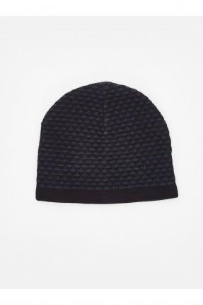 قبعة رجالية مخططة - كحلي