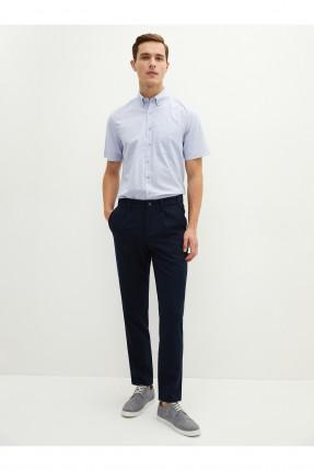 قميص رجالي ريجيولار فيت - ازرق