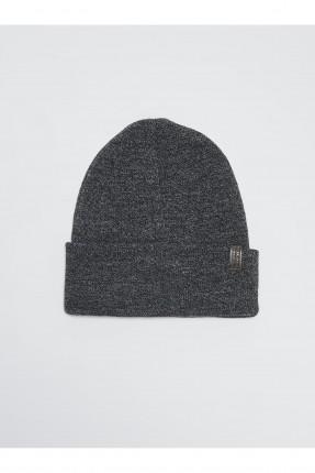 قبعة رجالية تريكو سادة اللون