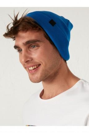 قبعة رجالية تريكو - ازرق
