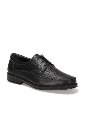 حذاء رجالي برباط - اسود