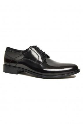 حذاء نسائي لامع - خمري