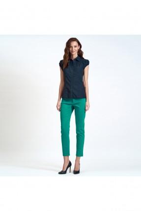 قميص نسائي جينز - اسود