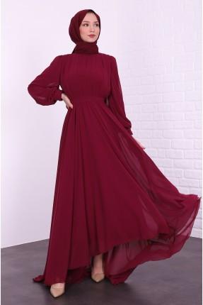 فستان رسمي مزين بتول
