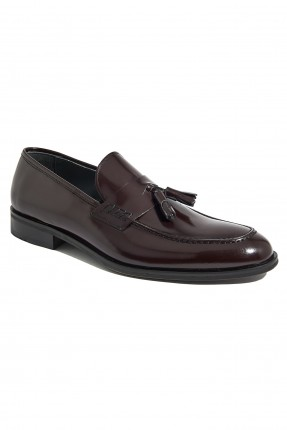 حذاء نسائي مزين بشراشيب - خمري