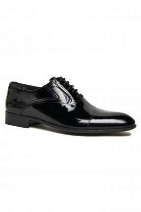 حذاء نسائي لامع - اسود