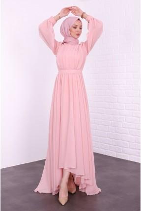 فستان رسمي كشكش - زهري