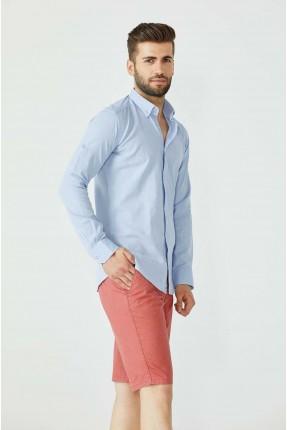 قميص رجالي شيك - ازرق