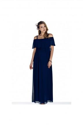 فستان حمل شيفون - كحلي