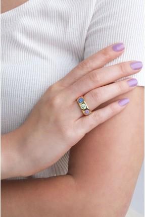 خاتم نسائي مزين بايموجي ملون
