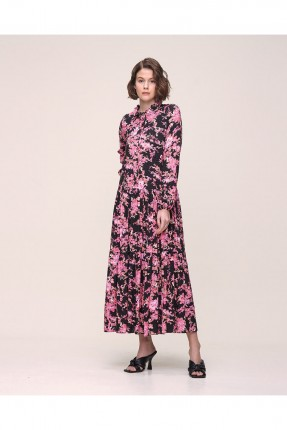 فستان مزين بنقشة زهور