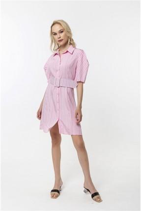 فستان نسائي موديل قميص - زهري