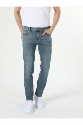 بنطال رجالي جينز مزين بجيوب