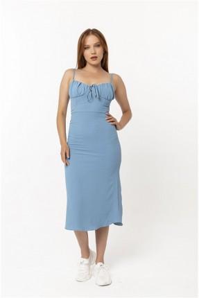 فستان نسائي شيال - ازرق
