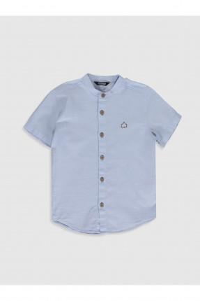 قميص اطفال ولادي سادة - ازرق
