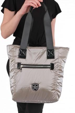 حقيبة يد نسائية مزينة بسحاب من الامام