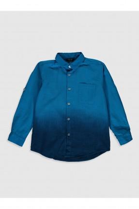 قميص اطفال ولادي بلونين - ازرق