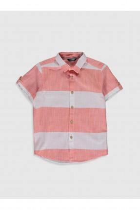 قميص اطفال ولادي مخطط -زهري