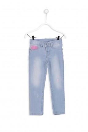 بنطال جينز اطفال بناتي سليم بكحتة