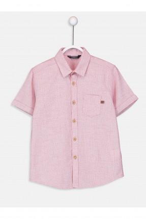 قميص اطفال ولادي سادة اللون - زهري
