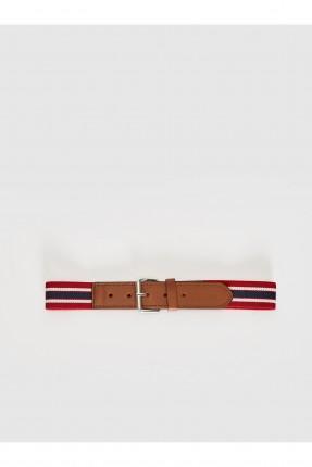 حزام اطفال ولادي ببكلة معدنية