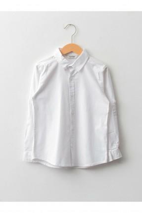 قميص اطفال ولادي سادة - ابيض