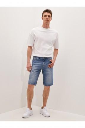 شورت رجالي جينز مزين بكحتة